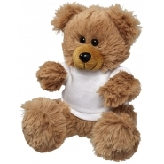 Plush sitting bear w shirt